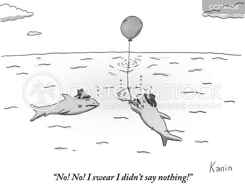 drowning cartoon