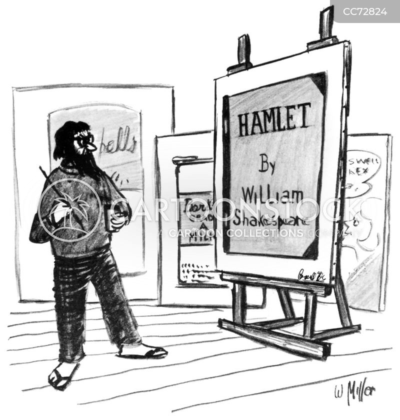 contemporary art cartoon