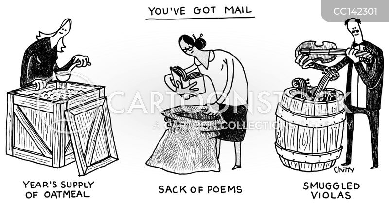 parcels cartoon