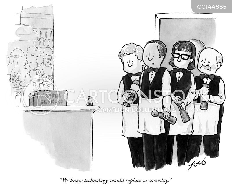 waiting staff cartoon