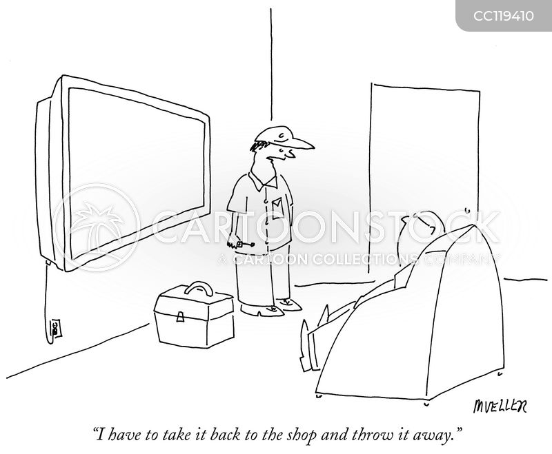 tv repairperson cartoon