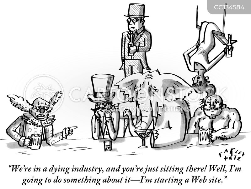 Dying Industry cartoon