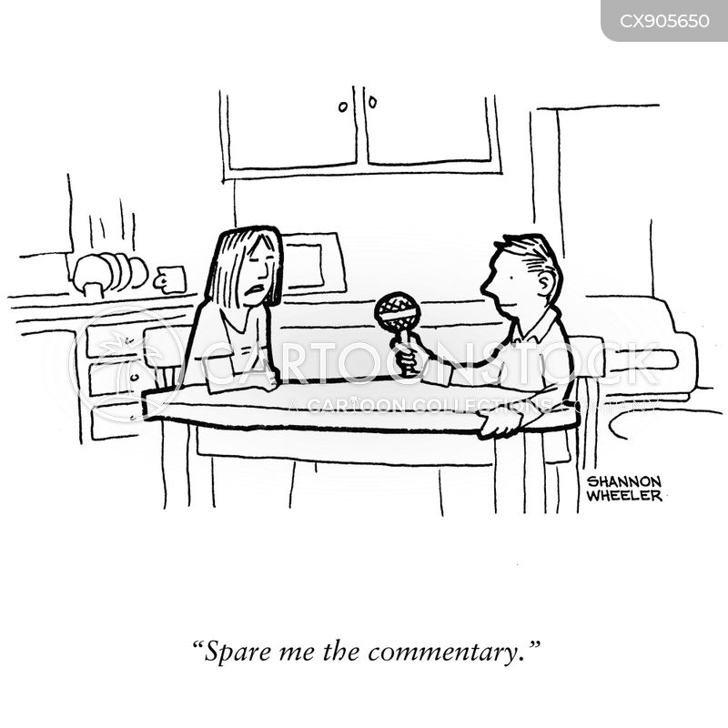 commentator cartoon