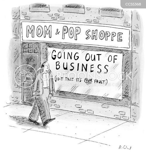 high streets cartoon