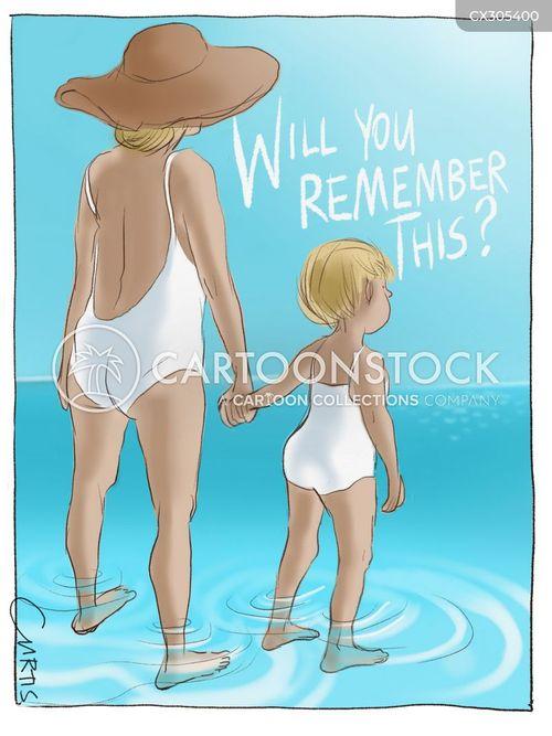 family holidays cartoon