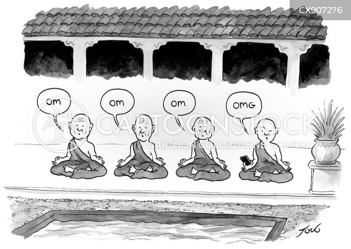 meditated cartoon