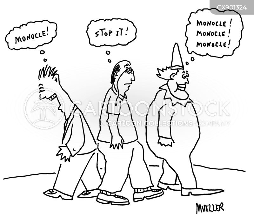 monocle cartoon