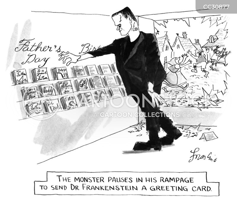 frankenstein cartoon