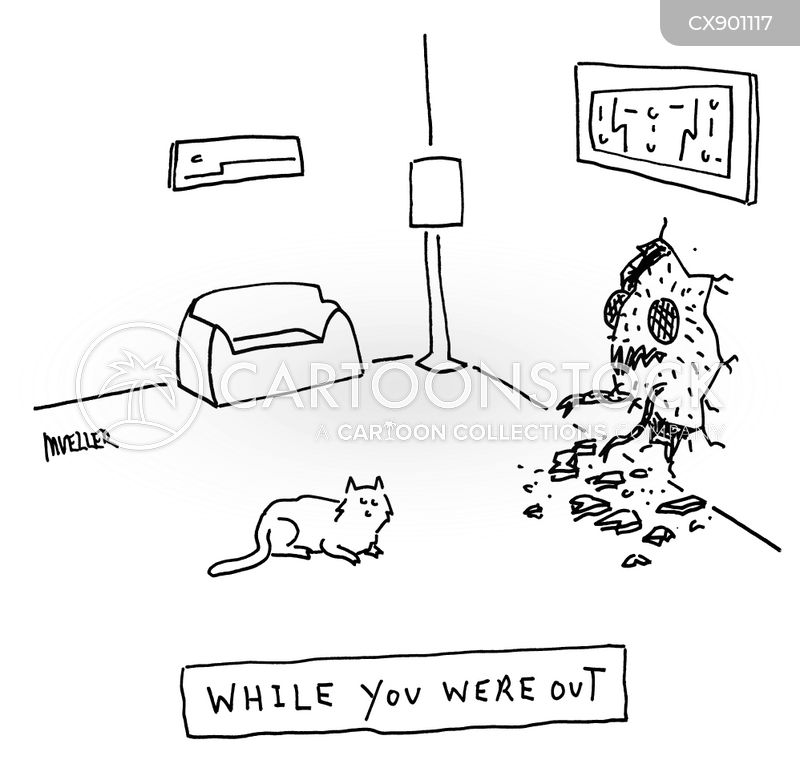 while you were out cartoon