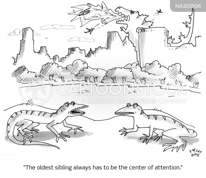 monster attacks cartoon