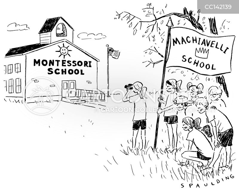 montessori school cartoon