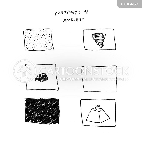 anxiety problem cartoon