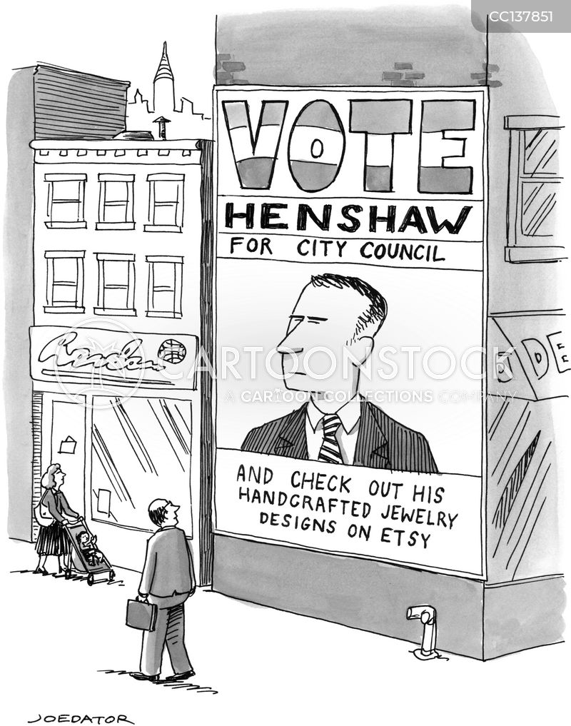 City Councilors cartoon