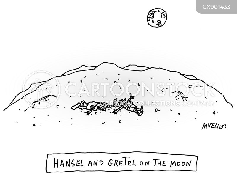 moon landing cartoon