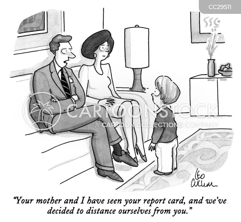 Report Card cartoon