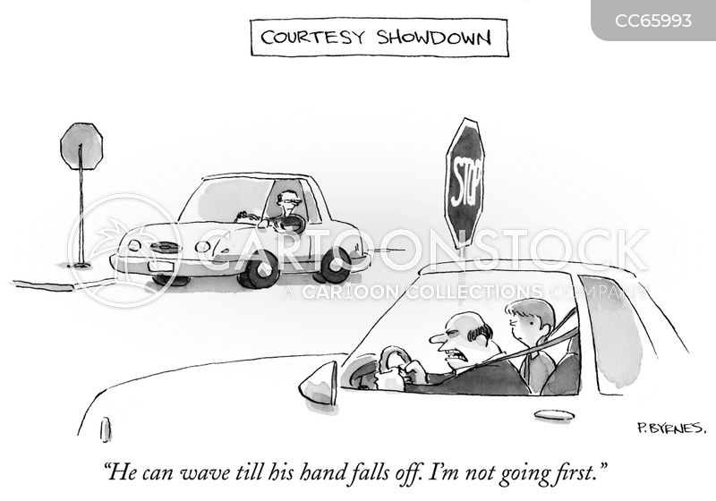 Driving Etiquette cartoon