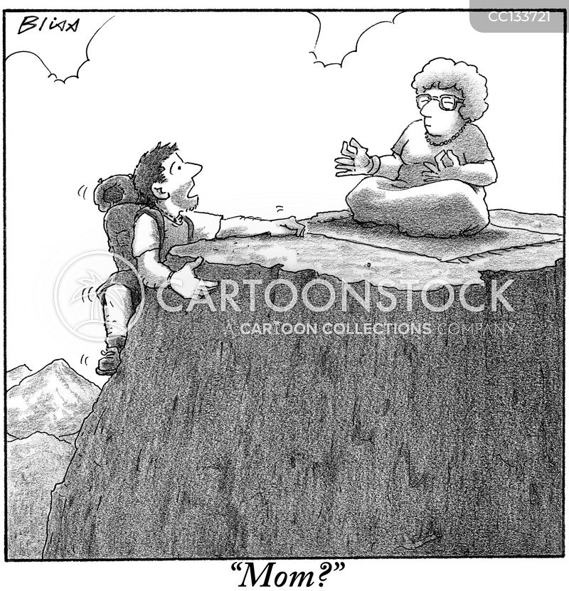 climbing cartoon