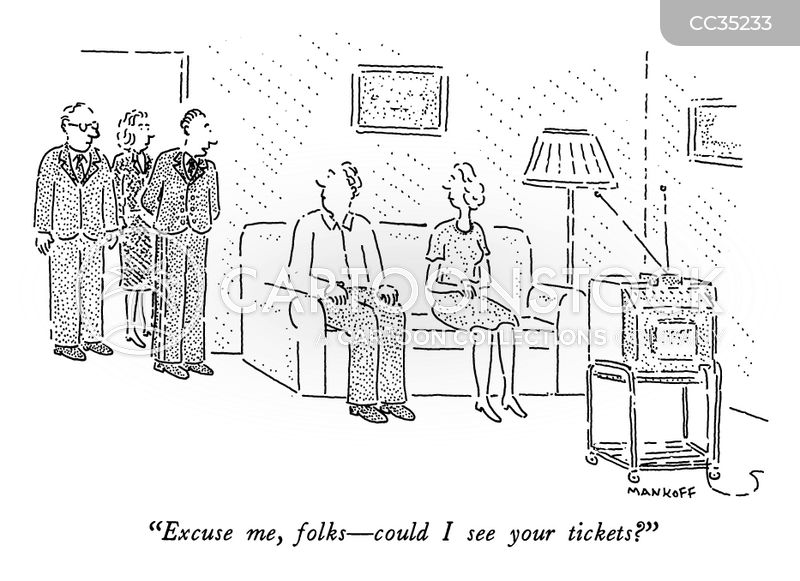 ticketing cartoon