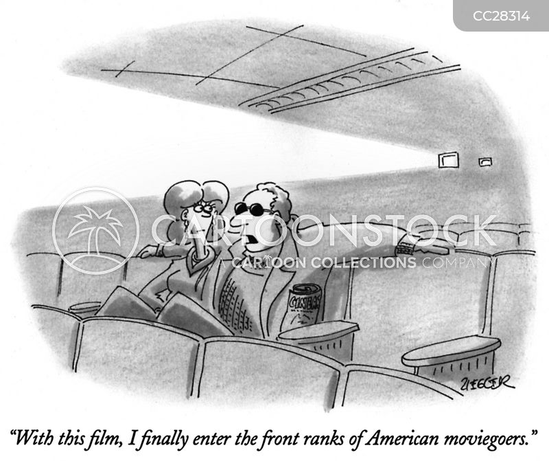 moviegoers cartoon