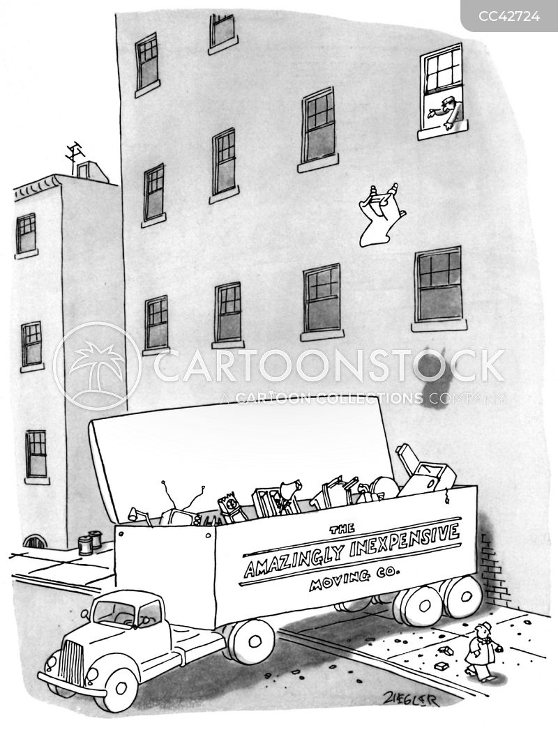 removal company cartoon