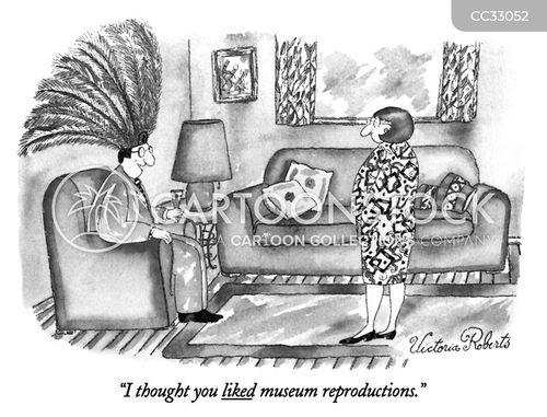 museum reproduction cartoon