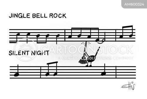 music notes cartoon