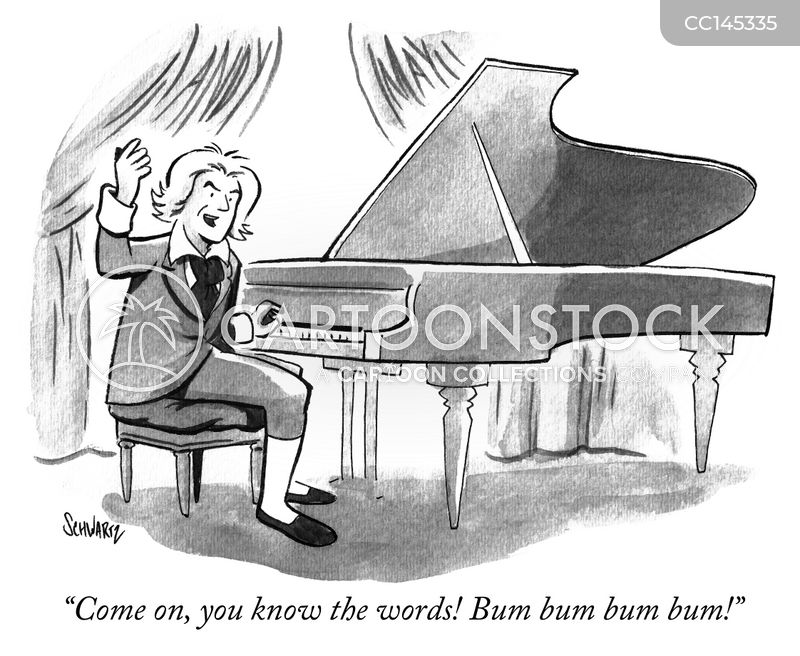 pianist cartoon