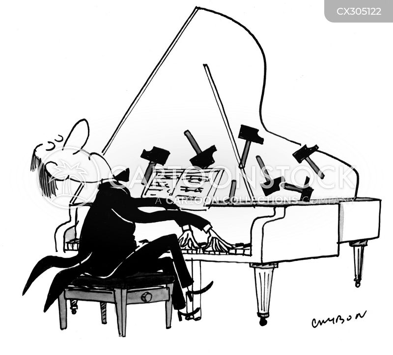 concert pianist cartoon