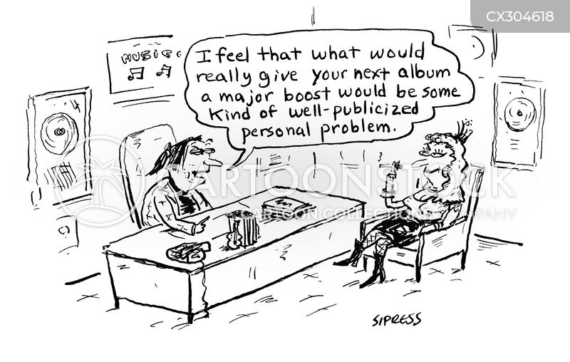 Singers cartoon