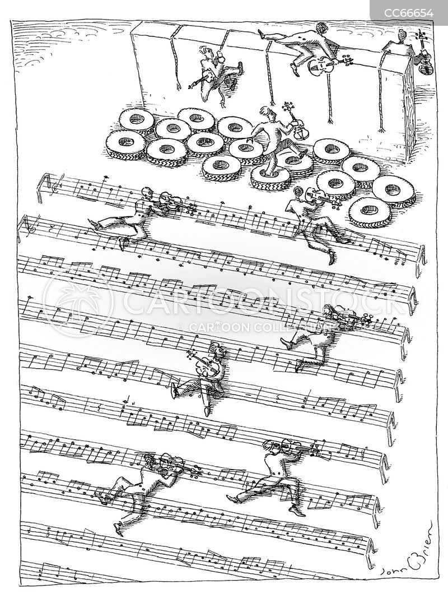 music score cartoon