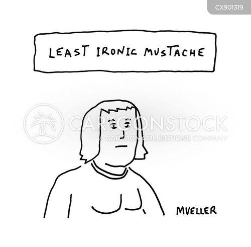 mustaches cartoon