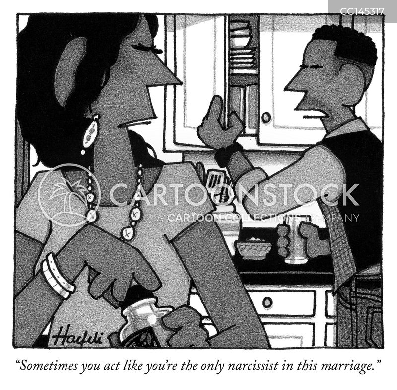 narcissists cartoon