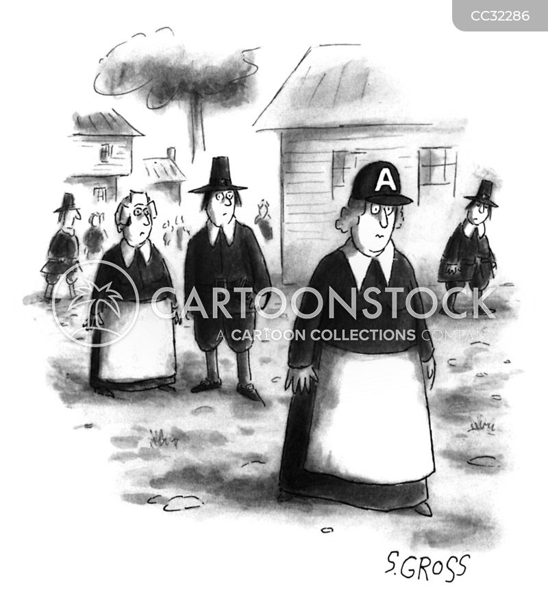 Colonial People cartoon
