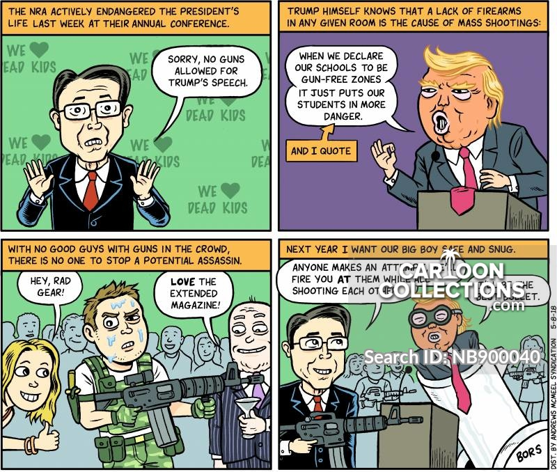 national rifle association cartoon