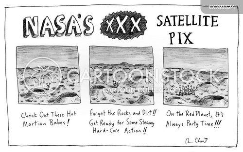 mars rovers cartoon