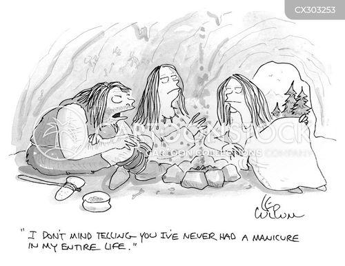 manicures cartoon