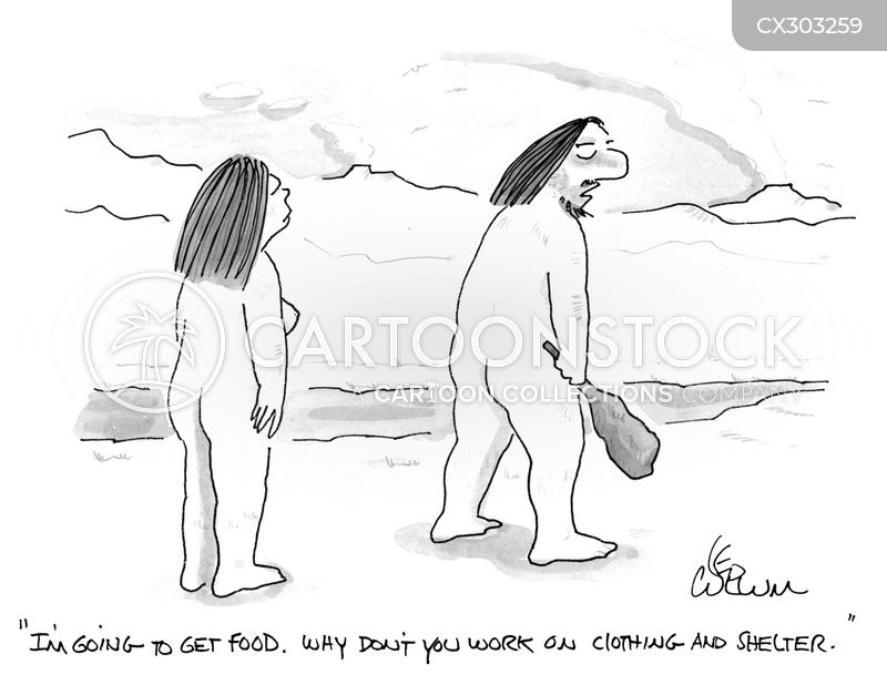 primitive man cartoon