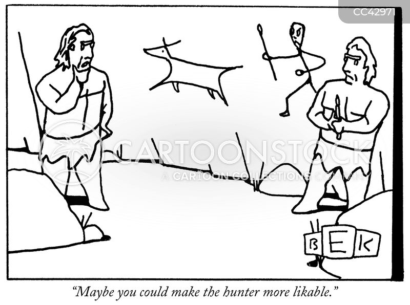 cave painters cartoon