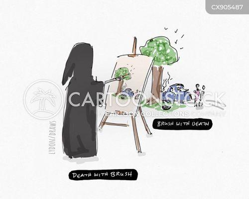 near death experience cartoon
