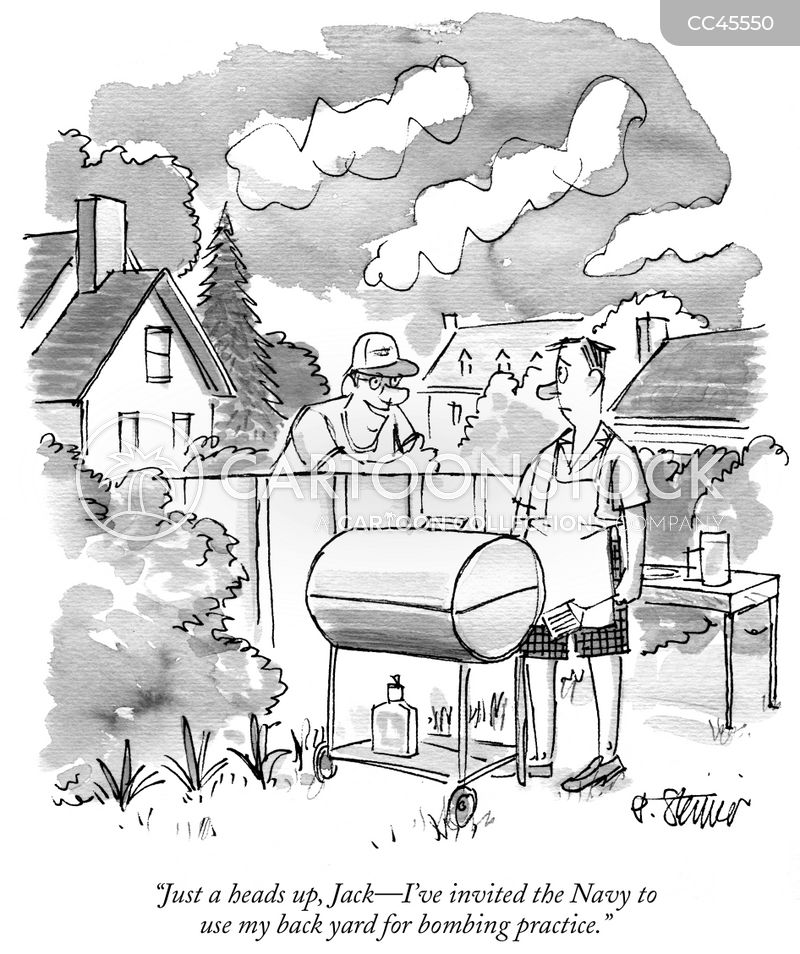 neighbor cartoon