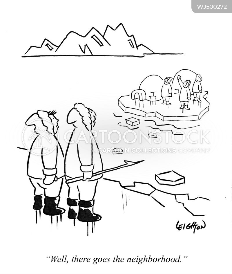 Icebergs cartoon