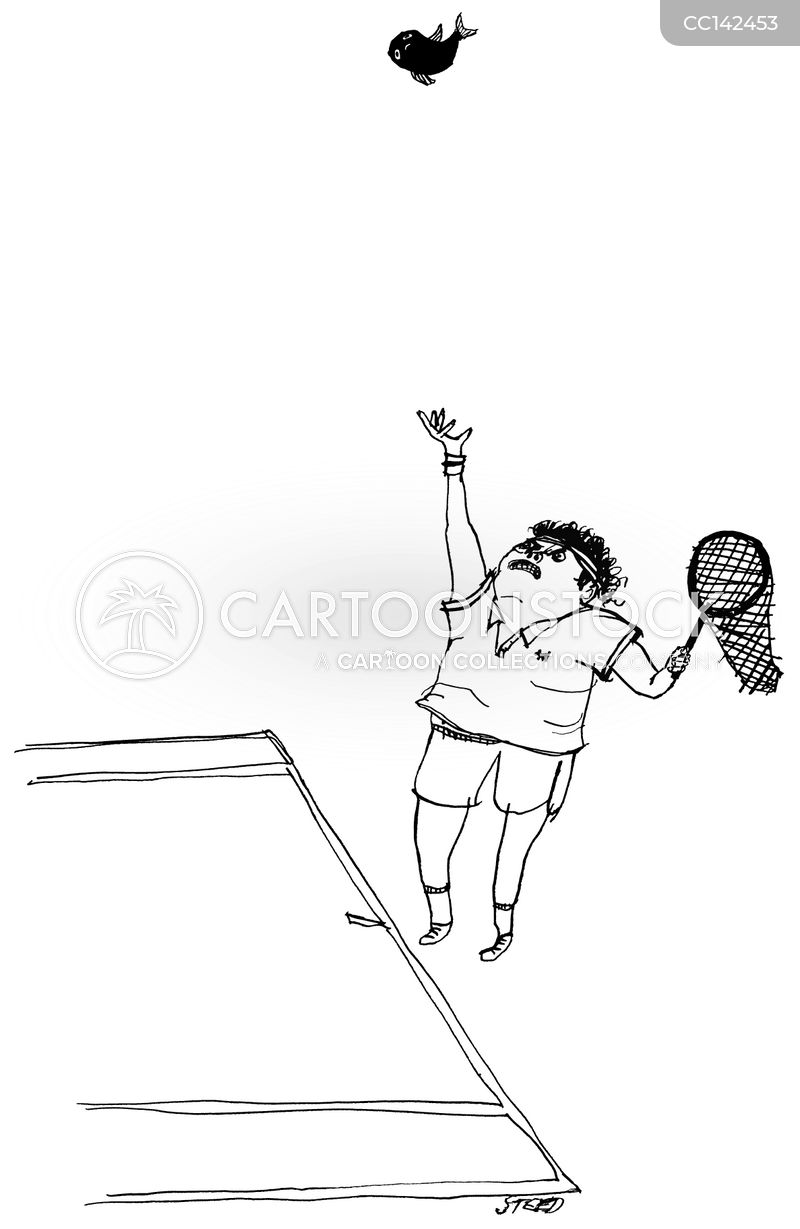 Tennis Player cartoon