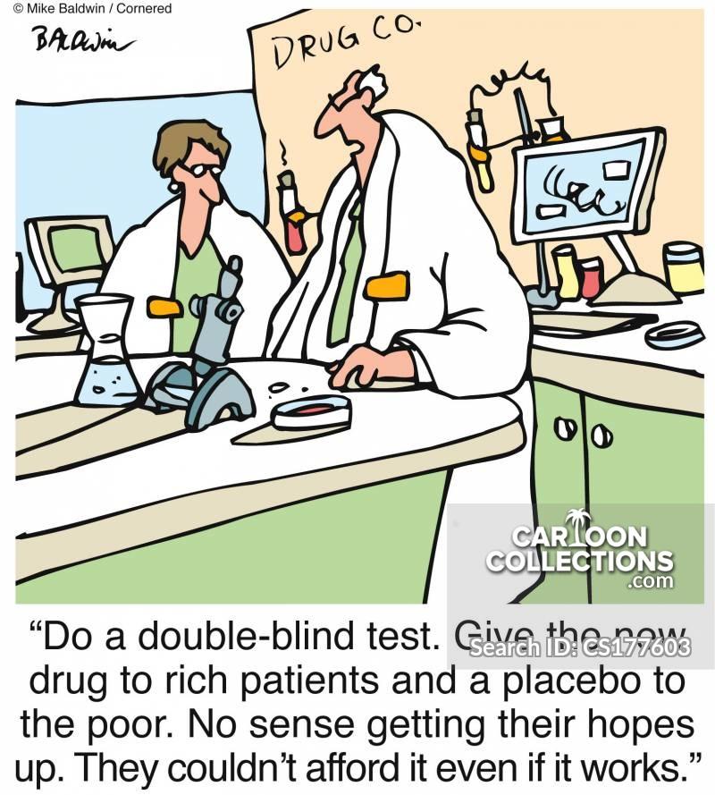 double-blind test cartoon