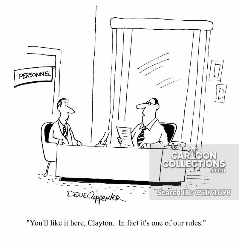 rules of employment cartoon