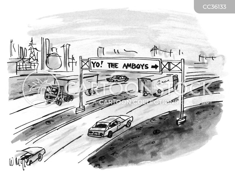 road sign cartoon