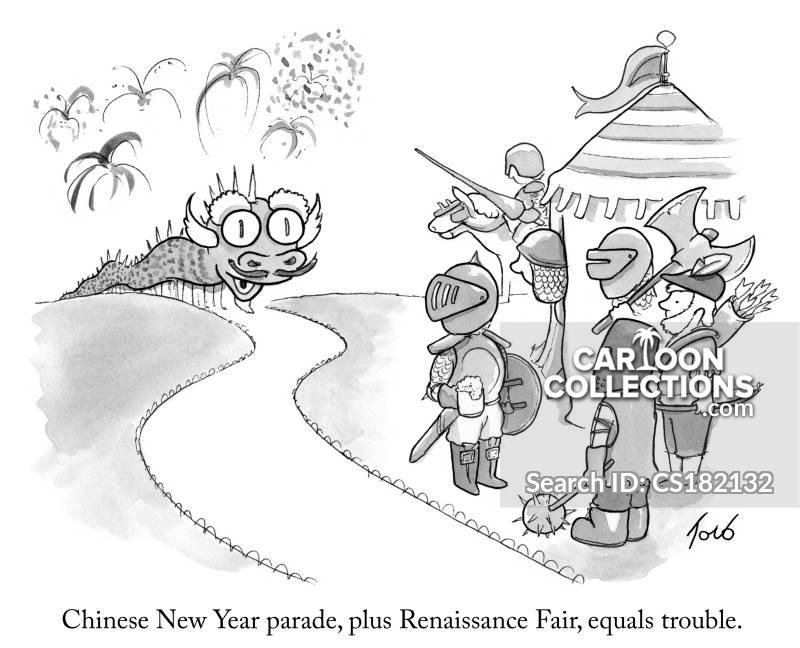 renaissance fayre cartoon