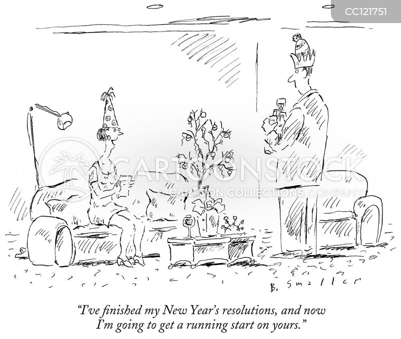 new year cartoon