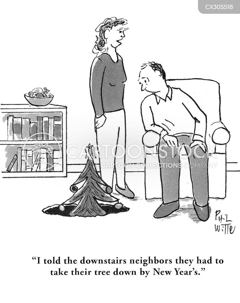 festive spirit cartoon