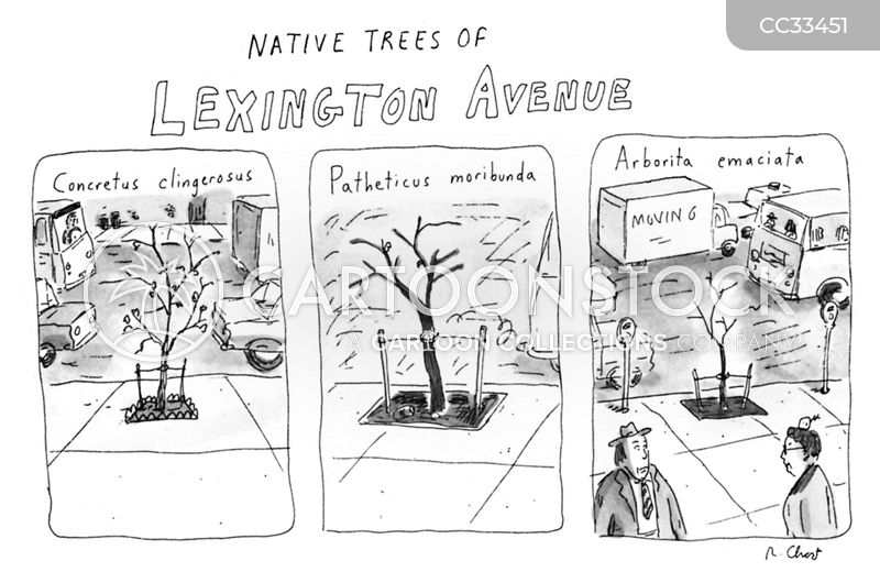 unhealthy trees cartoon