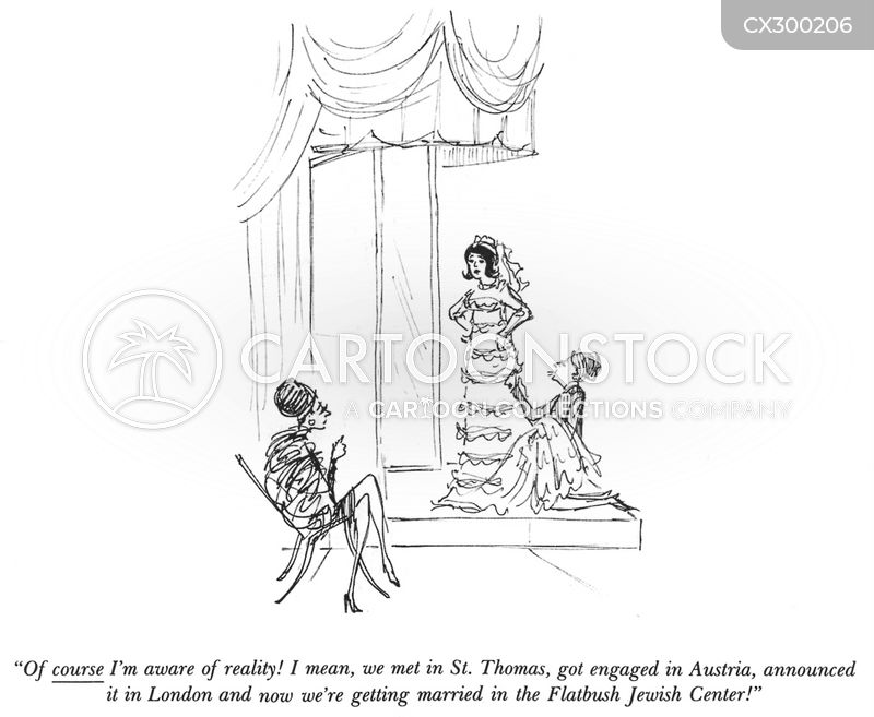 jewish wedding cartoon